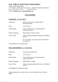 Engineering Resume Examples For Students Examples Of Resumes