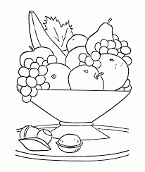 Small Picture Fresh Fruit In The Basket Coloring Page For Kids Fruit Coloring