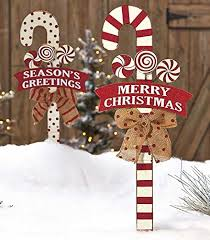 Candy Cane Yard Decorations Outdoor Gingerbread House Decorations 46