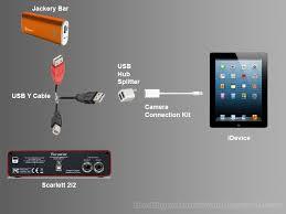 using a focusrite scarlett 2i2 solo an ipad or iphone how to use a focusrote scarlett 2i2 an ipad iphone ipod