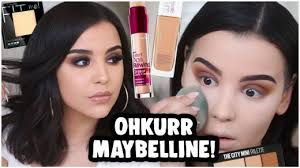 full face using only maybelline s makeup tutorial for beginners makeupbyamarie