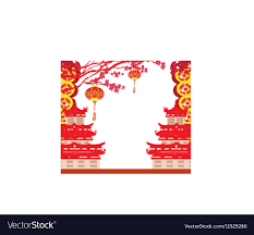 Oriental Happy Chinese New Year Card Royalty Free Vector