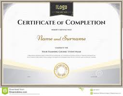 13 Certificate Of Completion Example College Resume