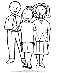 People Printable Coloring Pages For Kids And For Adults Coloring
