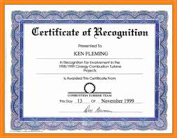 Certificate Of Recognition Wordings Wording For Certificate Of Recognition Sample Top Students Format
