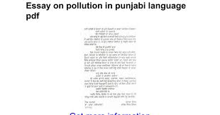 essay on pollution in punjabi language pdf google docs