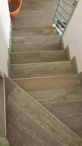 wood look tiles stairs
