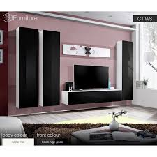 Small Picture Modern Wall Unit Dispaly Living Room Unit High Gloss Furniture AIR