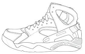 jordan sneakers coloring pages shoes coloring pages air shoes coloring pages image hi footwear templates free