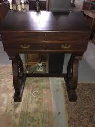 antique standing desk. Exellent Desk Image Is Loading Antique19thcenturyLargeEmpiremahoganyPaymasterDesk Throughout Antique Standing Desk E