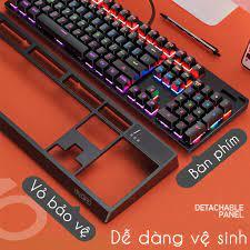 Bàn Phím Cơ Chuyên Game Yindiao K300 Blue Switch Có Nắp Bảo Hộ Tùy Chỉnh  Chế Độ Full Led RGB - Bàn phím chơi game Nhãn hàng No Brand