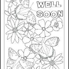 Printable Get Well Soon Card Get Well Soon Flowers Handmade Greeting