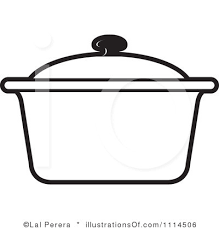 Small Picture Cooking pot with lid clipart collection