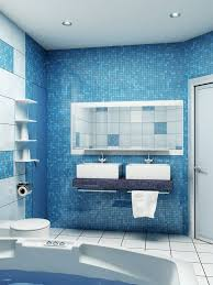 blue small bathroom design