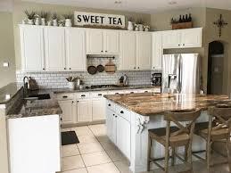 Rustic Farmhouse Decor Above Kitchen Cabinets