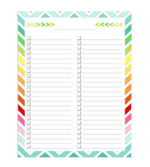 Pictures Blank Checklist Templates Free Printable Template For ...