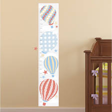 hot air balloon kids growth chart neutral
