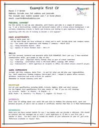 How To Do A Resume For Your First Job Resume My First Resume 24