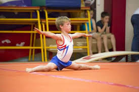 floor gymnastics splits. Henry Lafford In Box Split On Floor - Silver Medallist Boys Four-piece Gymnastics Splits T