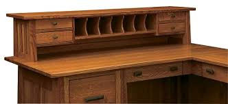 mission style solid oak office computer. Amish Corner Computer Desk L Shaped Mission Solid Wood Wooden Office Household Style Furniture With Regard Oak E