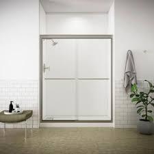 frameless bypass shower doors