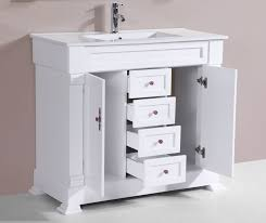 Traditional Bathroom Sinks 40 Balboa White Single Traditional Bathroom Vanity With