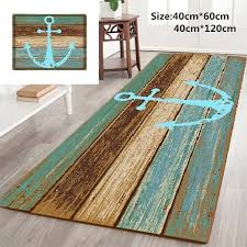 vintage retro nautical anchor bathroom rug nonslip kitchen floor bath mat carpet