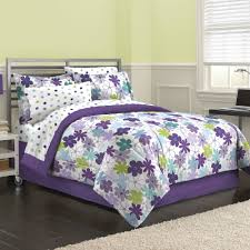 first at home graphic daisy bed in a bag bedding set purple white canada b3506f1d db1f 4b8f 873c 54539e732