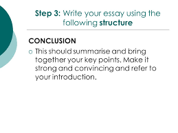 year response to text essay writing ppt video online  step 3 write your essay using the following structure