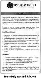 Finance Director Job Description Finance Manager TAYOA Employment Portal 1