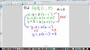 write linear equation given two points