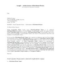 Offer Letter Format Indian Company Fresh Authorization Distributor
