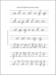 Lowercase Cursive Alphabet Worksheet Cursive Capital And Lowercase Handwriting Interpretation Capital