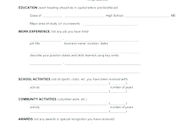 Resume Blank Form Download Resume Forms To Fill Out Hotwiresite Com