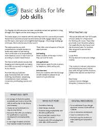 skills and qualifications a selection of 5 worksheets from axis education s job skills series