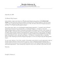 Enchanting Sample Cover Letter For Mechanical Engineering