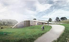 Curved Architecture New Skamlingsbanken Visitor Center Nestled Under A Softly Curved