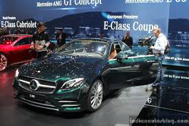 2017 Mercedes E-Class Coupe front quarter at the 2017 Geneva Motor ...