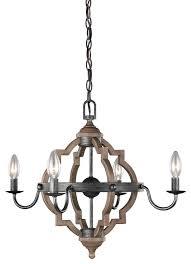 industrial style 4 light chandelier stardust oak
