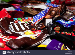 Chocolates Wrappers Assorted Sweet Or Candy Bar Wrappers Stock Photo 26668313