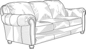furniture clipart black and white. couch furniture clip art clipart black and white d