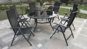 royalcraft soro deluxe round 6 recliner dining set black within the elegant aluminium garden furniture 6 seater pertaining to house
