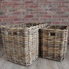 Large wicker basket Giant Extra Large Wicker Rectangular Wicker Log Toy Baskets Set Of Cowshed Interiors Extra Large Rectangular Wicker Log Baskets Toy Baskets Cowshed
