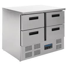 Counter Fridge Polar 4 Drawer Compact Counter Fridge 240 Ltr U638 Buy Online