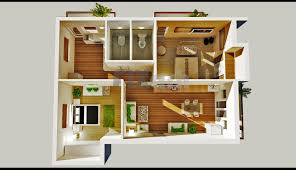 Small Two Bedroom Apartment Floor Plans And D Floor Plan Image - Small apartment floor plans 3d