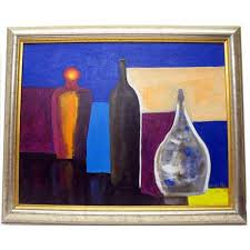 original marino chanlatte modern still life of colors acrylic on canvas painting signed marino chanlatte dated 2007 excellent condition beautifully