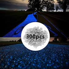 300pcs Glow in The Dark Pebbles for Walkways Décor, Outside Bulk Glow in The Dark Rocks for Outdoor Fairy Garden, Glowing Stones for Driveway, Fish ...