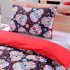 33 impressive skull bedding double new sugar duvet cover set twin full queen ca au us uk size bed sheets in sets from home garden on