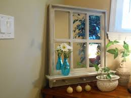 Rustic Mirror Faux Window Mirror By Pineterracetreasures On Etsy