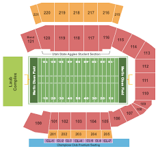 Utah Football Stadium Seating Chart Utah State Aggies Vs Unlv Rebels Saturday October 13th At